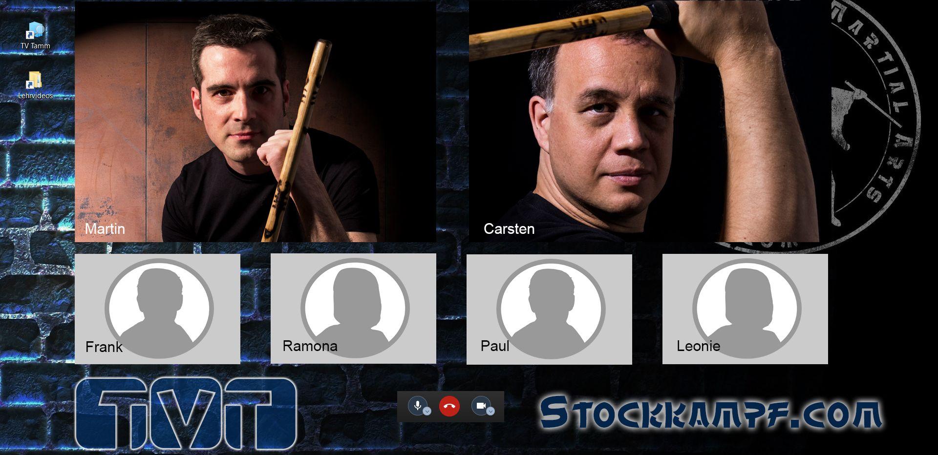 Stockkämpfer im Videochat
